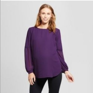 Isabel Maternity by Ingrid & Isabel Purple Top